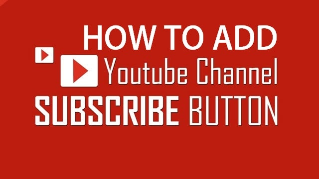 Add YouTube Subscribe Button In Wordpress