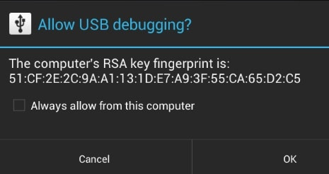 allow usb debugging permission