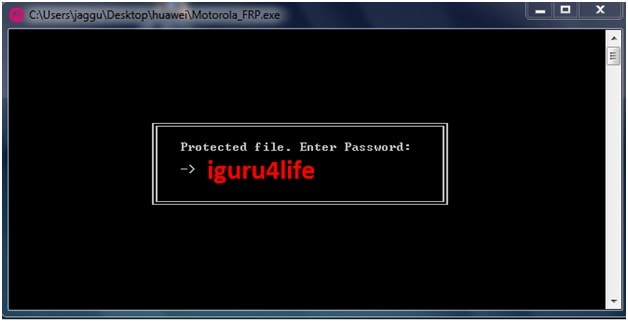 moto frp bypass tool password