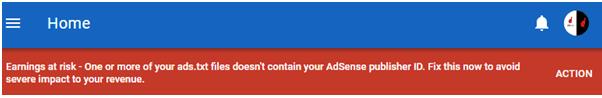 ads.txt file missing warning