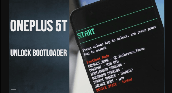 Unlock Bootloader Of OnePlus 5t