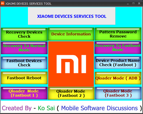 Download Mi Device Service Tool free 100% working [With