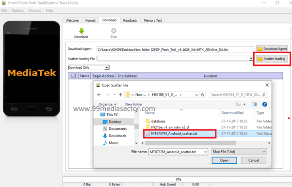 How To Flash MediaTek Phone Using Sp Flash Tool [GUIDE] - 99Media Sector
