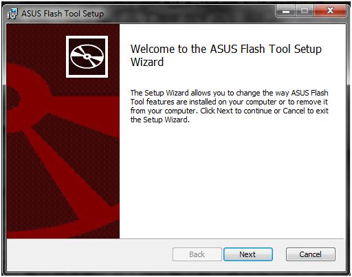 install asus flash tool
