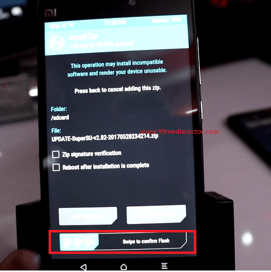 supersu flashing using twrp recovery