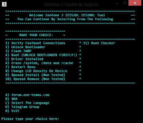 asus zenfone 3 root toolkit