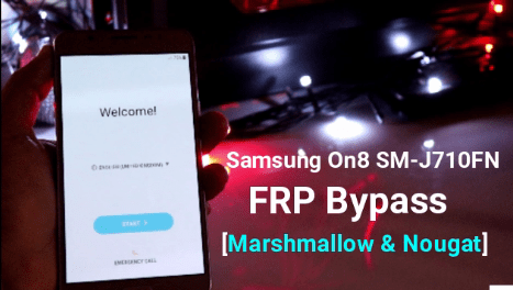 Remove Samsung Galaxy On8 FRP