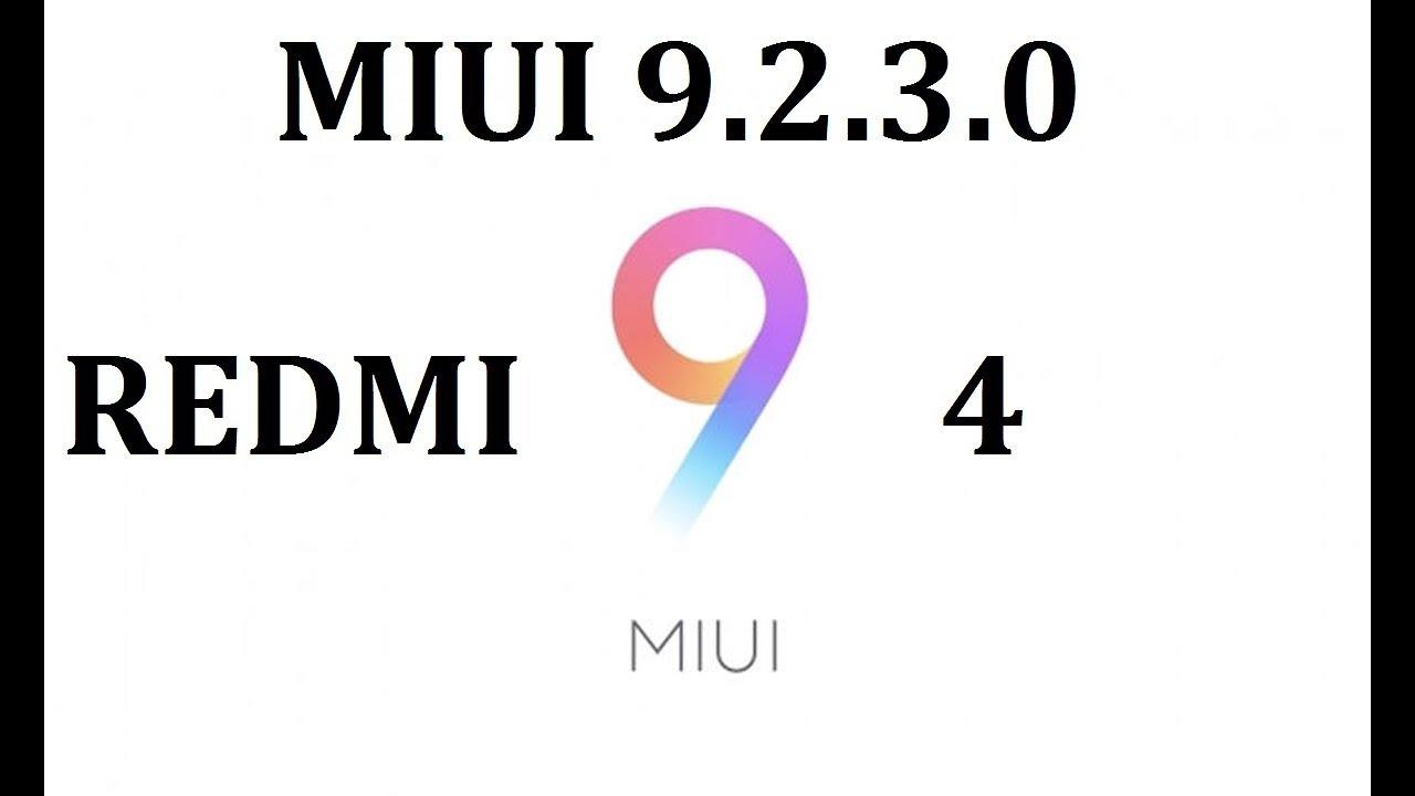 Redmi 4 miui 9.2.3.0 firmware