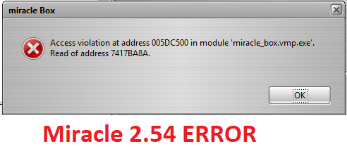 Access violation at address 005DC500 Error