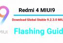 Redmi 4 MIUI9 Global Stable ROM 9.2.3.0 [Nougat Firmware]