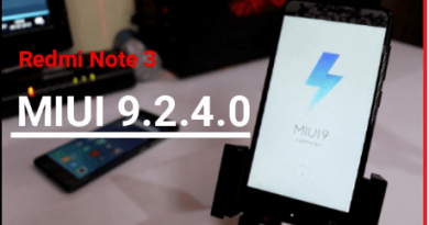 Redmi Note 3 MIUI9 Global Stable ROM 9.2.4.0