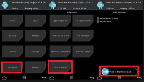 Correct Method To Flash Firmware With Sideload Or Recovery Mode