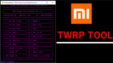 Install TWRP On Xiaomi [ Download TWRP Flasher Tool v1 1