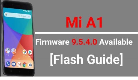 Mi A1 Firmware 9.5.4.0