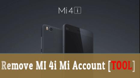 Xiaomi Mi 4i Mi Account Bypass