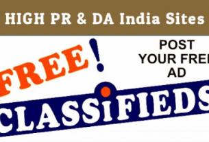Free Classified Submission Sites list In India With High PR