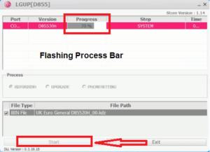 LGUP firmware flashing