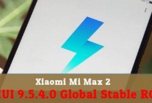 Xiaomi Mi Max 2 MIUI 9.5.4.0 Global Stable ROM