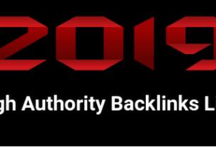 High Authority Backlinks List
