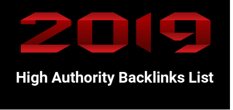 High Authority Backlinks List