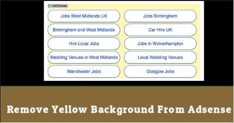 Remove Yellow Background From Adsense