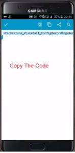 samsung call recording code