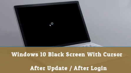 Fix Windows 10 Black Screen With Cursor