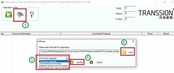flash tecno firmware using swd tool