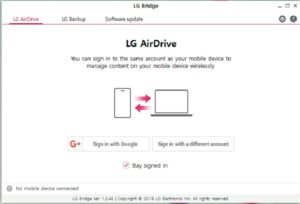 lg bridge pc suite backup