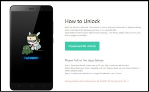 mi unlock tool