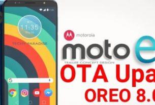 Update Moto E5 Plus Android Oreo 8.0