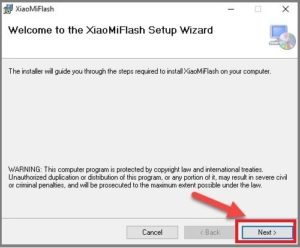 xiaomi mi flash tool setup wizard