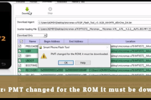 PMT changed for the ROM it must be download