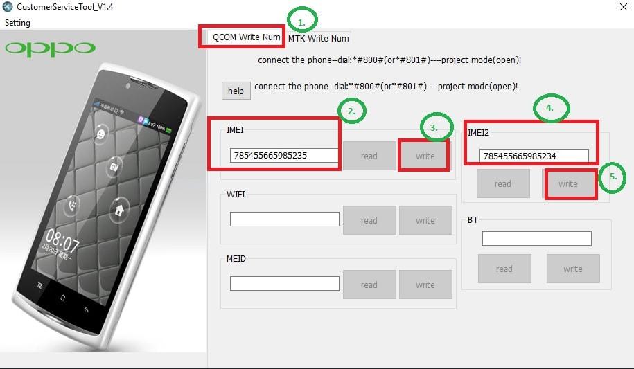 Repair Oppo Qualcomm IMEI Using Oppo Service Tool - 99Media