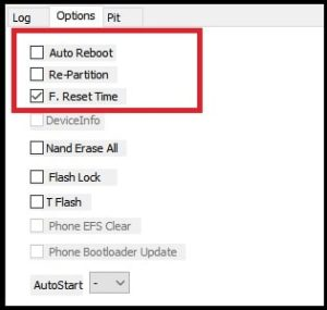 disable auto reboot odin