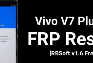 VIVO V7 Plus FRP Bypass
