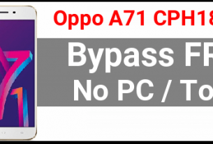 Oppo A71 FRP Bypass without Pc