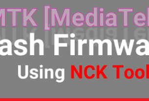 Flash Firmware Using NCK Tool