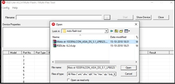 flash moto xt1033 flash file