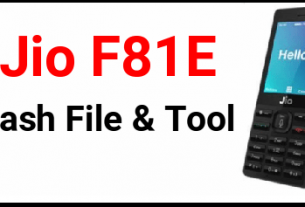 Jio F81e Flash File