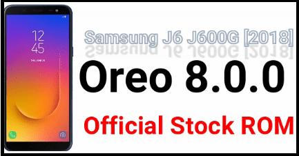 Samsung Galaxy J6 SM-J600G Firmware