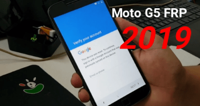 Moto G5 FRP Unlock