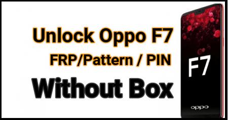 Oppo F7 FRP Unlock