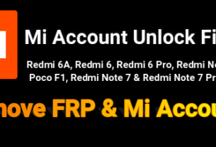 Mi Account Unlock Files