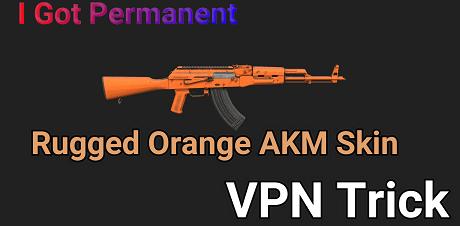 pubg mobile akm orange skin
