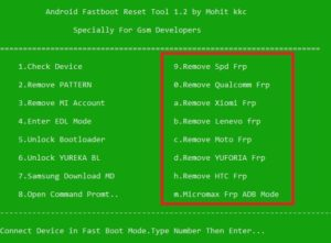Android Fastboot FRP Reset Tool Download [ Latest version