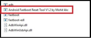 android fastboot reset tool version 1.2