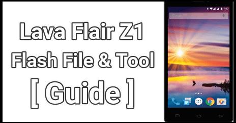 Lava Flair Z1 Flash File