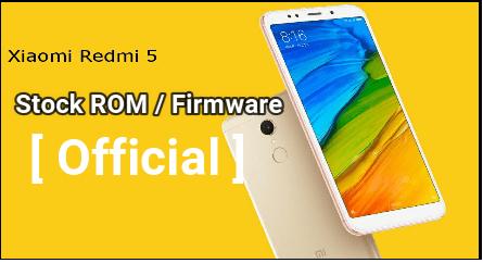 Redmi 5 Flash File