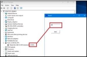 vivo adb format tool port selection